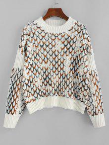 Argyle Drop Shoulder Sweater