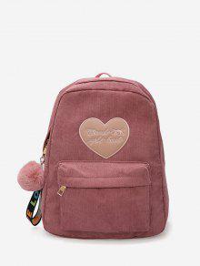 القلب رسالة غامض الكرة قلادة حقيبة الظهر - الكاكي روز
