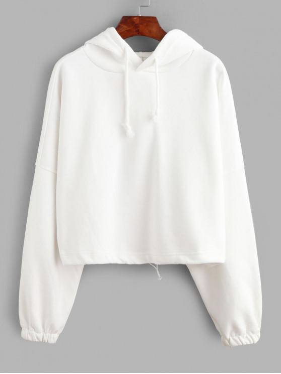 Batwing Alternar con capucha con cordón de gran tamaño - Blanco Talla única