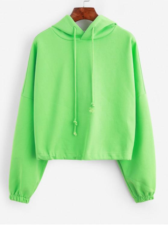 trendy Batwing Toggle Drawstring Oversized Hoodie - GREEN ONE SIZE