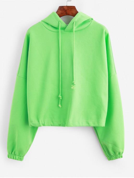 Sweat à Capuche Chauve-souris à Cordon Surdimensionné - Vert Taille Unique