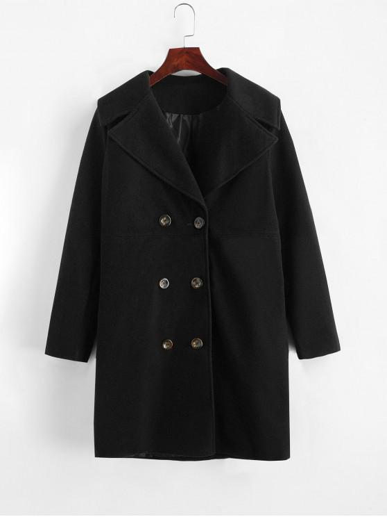 best Longline Pocket Peacoat - BLACK M