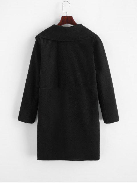 Manteau Long avec Poche - Noir M Mobile
