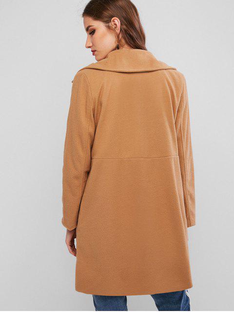 Manteau Long avec Poche - Marron Camel S Mobile