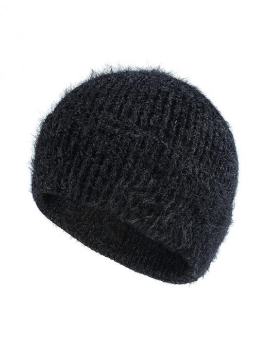 Chapeau Elastique en Couleur Unie - Noir