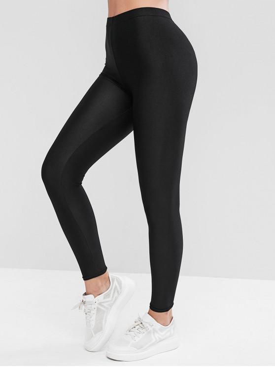 shop Basic High Rise Leggings - BLACK ONE SIZE