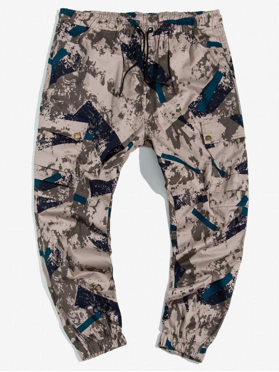 best Camouflage Print Drawstring Cargo Jogger Pants - MULTI 2XL