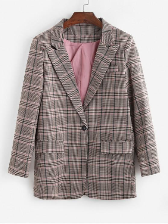 Glen Check Blazer - Multicolor-A M