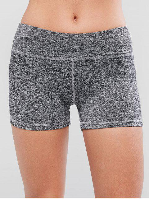 Shorts Deportista Ceñidos Cintura Elástica - Gris S Mobile