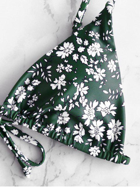 best ZAFUL Padded Ditsy Print String Bikini Swimsuit - MULTI-A S Mobile