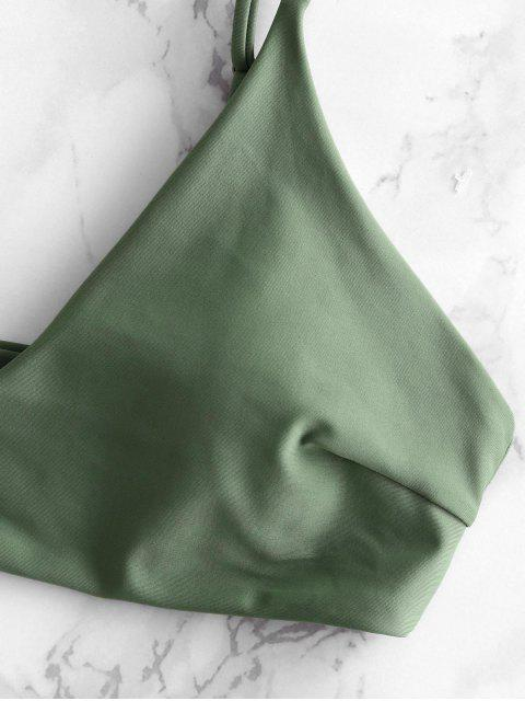 ZAFUL Biquíni com Contraste de Folhas de Abacaxi - Verde de Camuflagem M Mobile