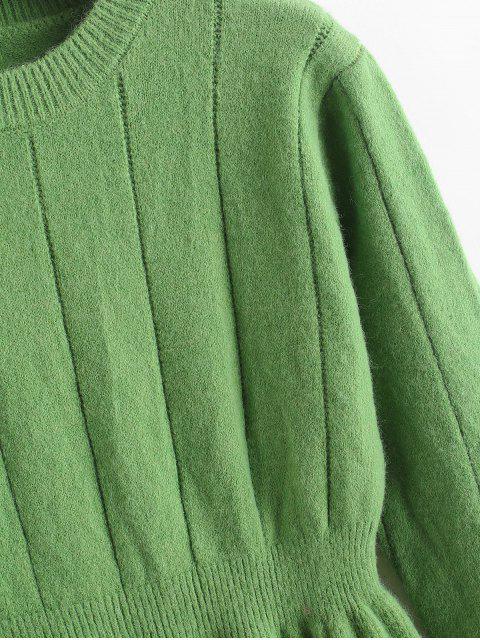 圓領小毛衣裙 - 綠色 One Size Mobile
