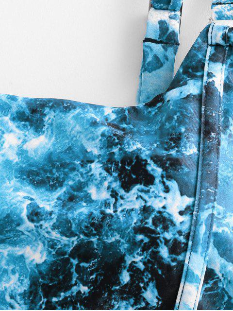 ZAFULBiquíniDeImpressãoOceanoDeRenda - Oceano Azul M Mobile