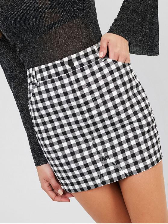 shop ZAFUL Plaid Mini Skirt - MULTI-A L