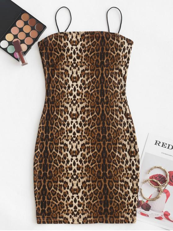 Cami Tiger Mini vestido Bodycon - Multi-B	 S