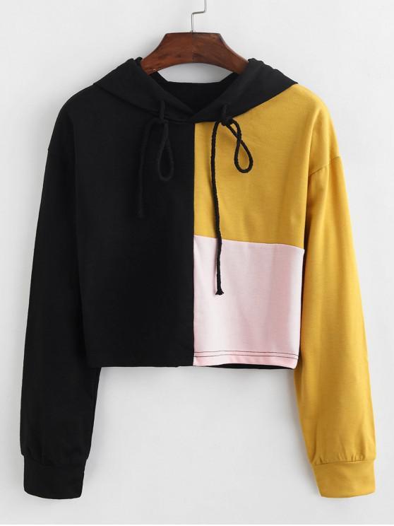 Color-blocare Cordon Pullover Hoodie - Multi S