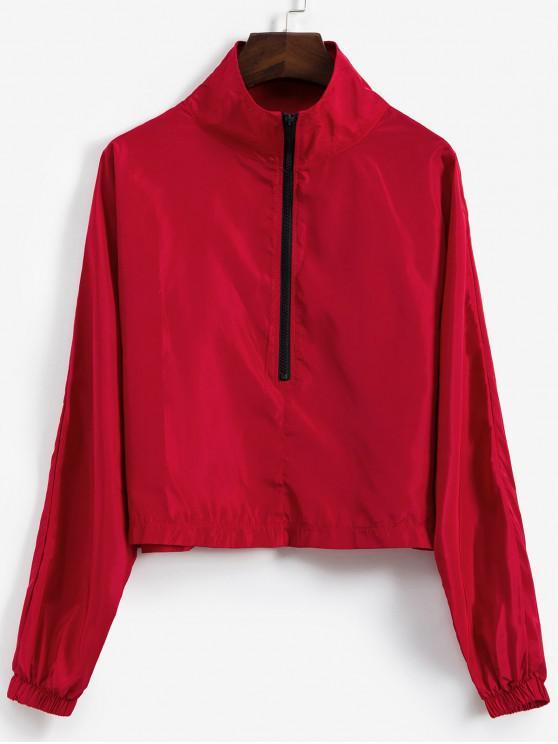 Sweat-shirt Coupe-vent à Demi-zip - Rouge L