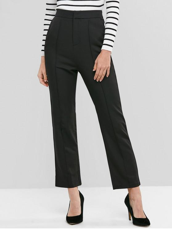 shop High Waist Solid Suit Pants - BLACK L