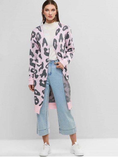 outfits Leopard Pocket Drop Shoulder Cardigan - ROSE S Mobile
