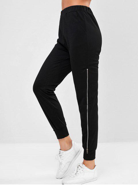 Bolsillo con cremallera lateral del basculador de pantalones - Negro S Mobile