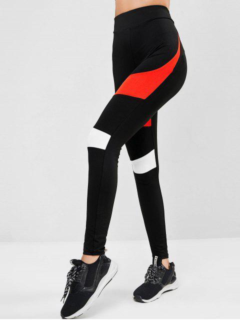 Leggings de Ejercicio de Músculo de Alta Cintura - Multicolor-A S Mobile