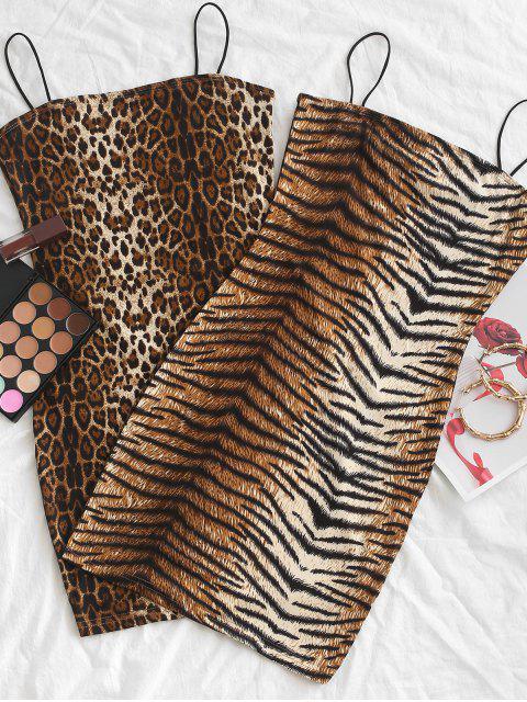 unique Cami Tiger Mini Bodycon Dress - MULTI-B S Mobile