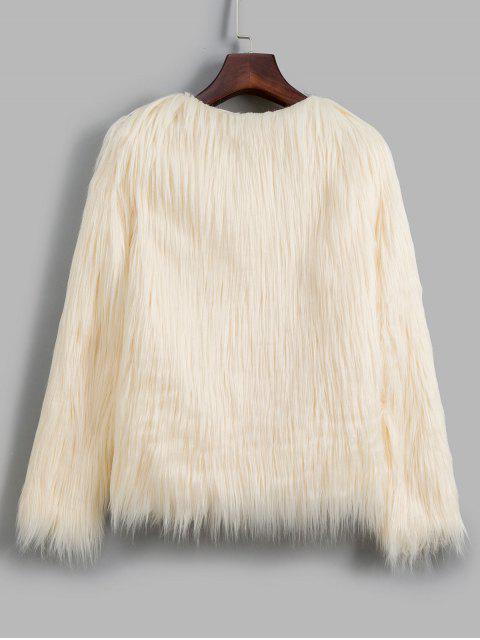 Kunstpelz Leichter Stil Plüsch Flauschige Mantel - Warmweiß S Mobile