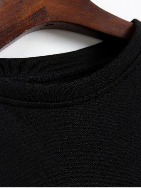 落肩星圖形七分褲外套 - 黑色 L Mobile