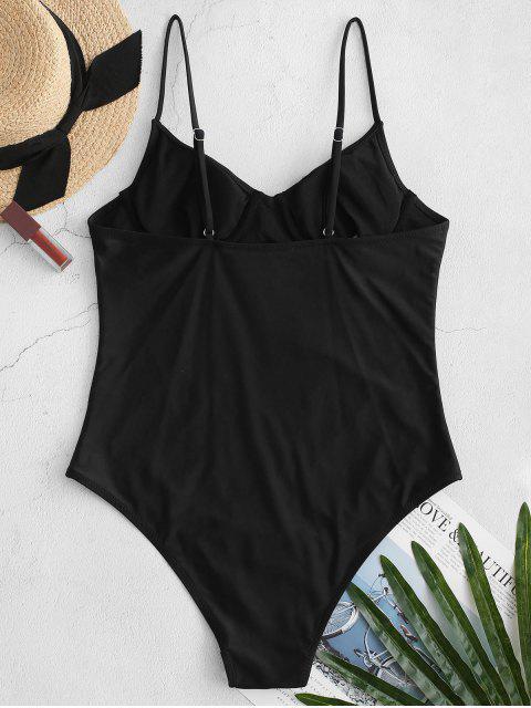 ZAFUL基本鋼圈連體泳衣 - 黑色 XL Mobile