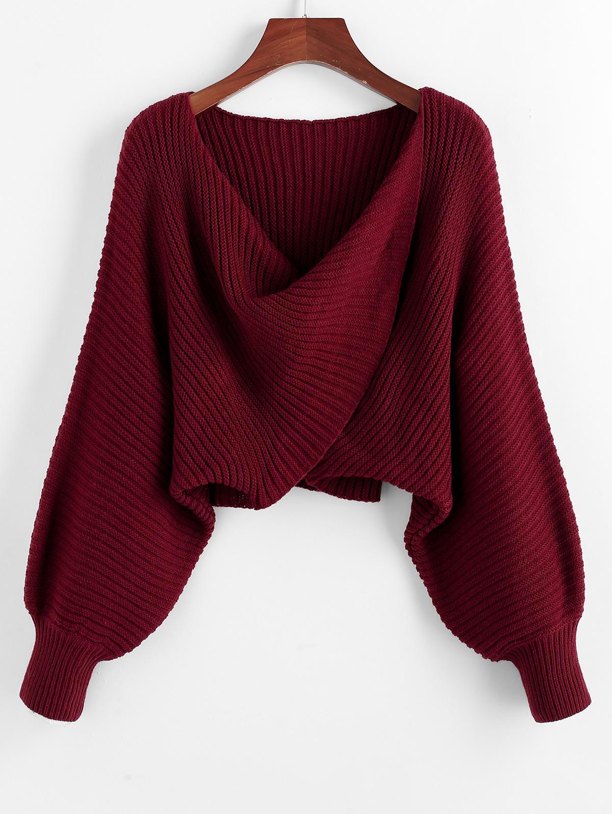 Twist Asymmetric Crop Sweater
