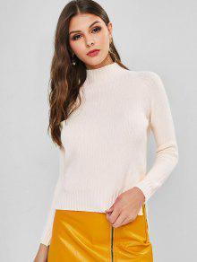 High Low Slit Raglan Sleeve Sweater