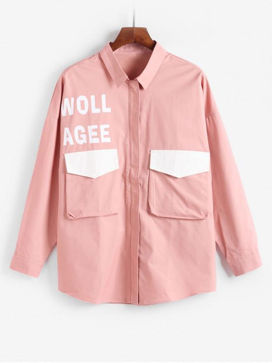Jacket carta bolso Decoração - Rosa L
