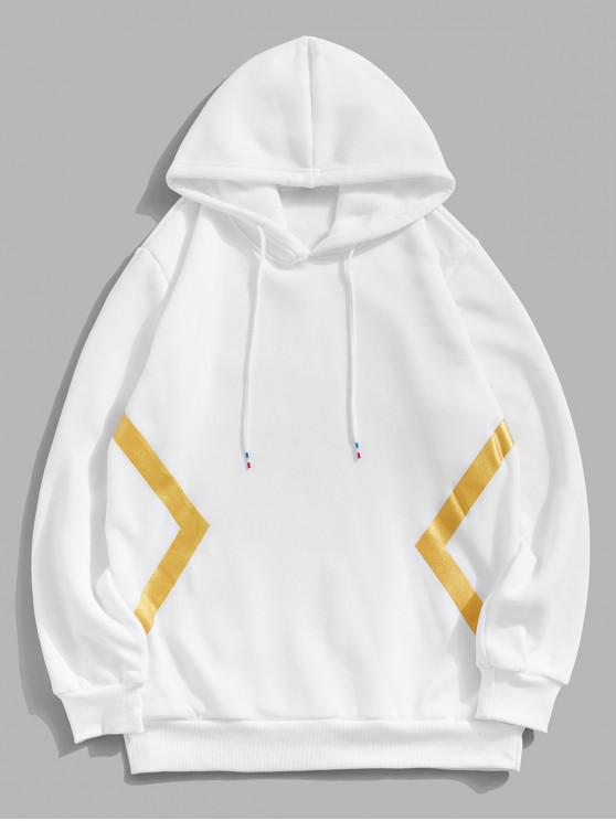 latest Gilding Geometric Printed Casual Hoodie - WHITE 2XL