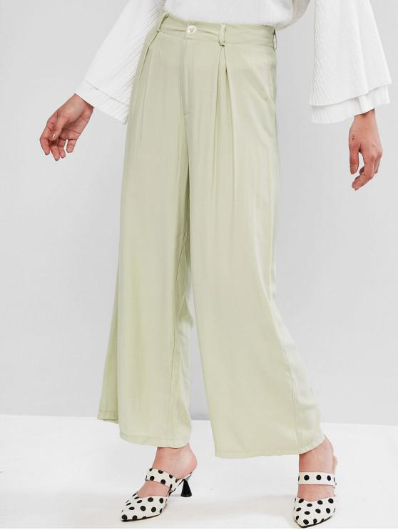 online High Waisted Wide Leg Palazzo Pants - LIGHT GREEN M