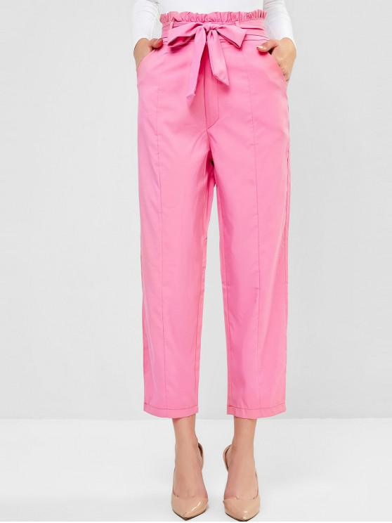 Pocket Peg Leg Paperbag Pants - Rosa M