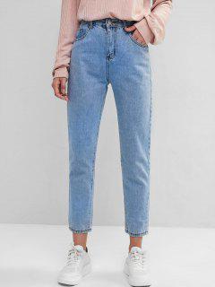 Basic Mom Jeans - Blue M