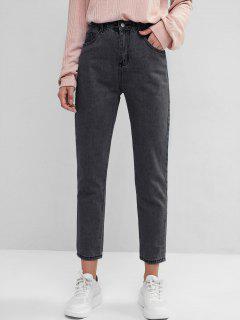 Basic Mom Jeans - Black L