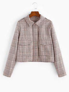 Manteau à Carreaux Avec Poche à Col Chemise - Multi-a Xl
