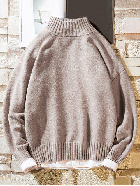 Einfarbiger Stehkragen Lässige Pullover - Rosa XS Mobile
