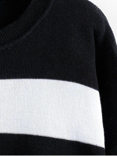ZAFUL Colorblock落肩圓領毛衣 - 多-A M Mobile