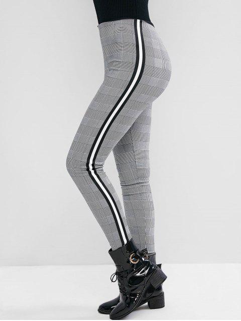 千鳥格的帶側緊身褲 - 多-A XL Mobile