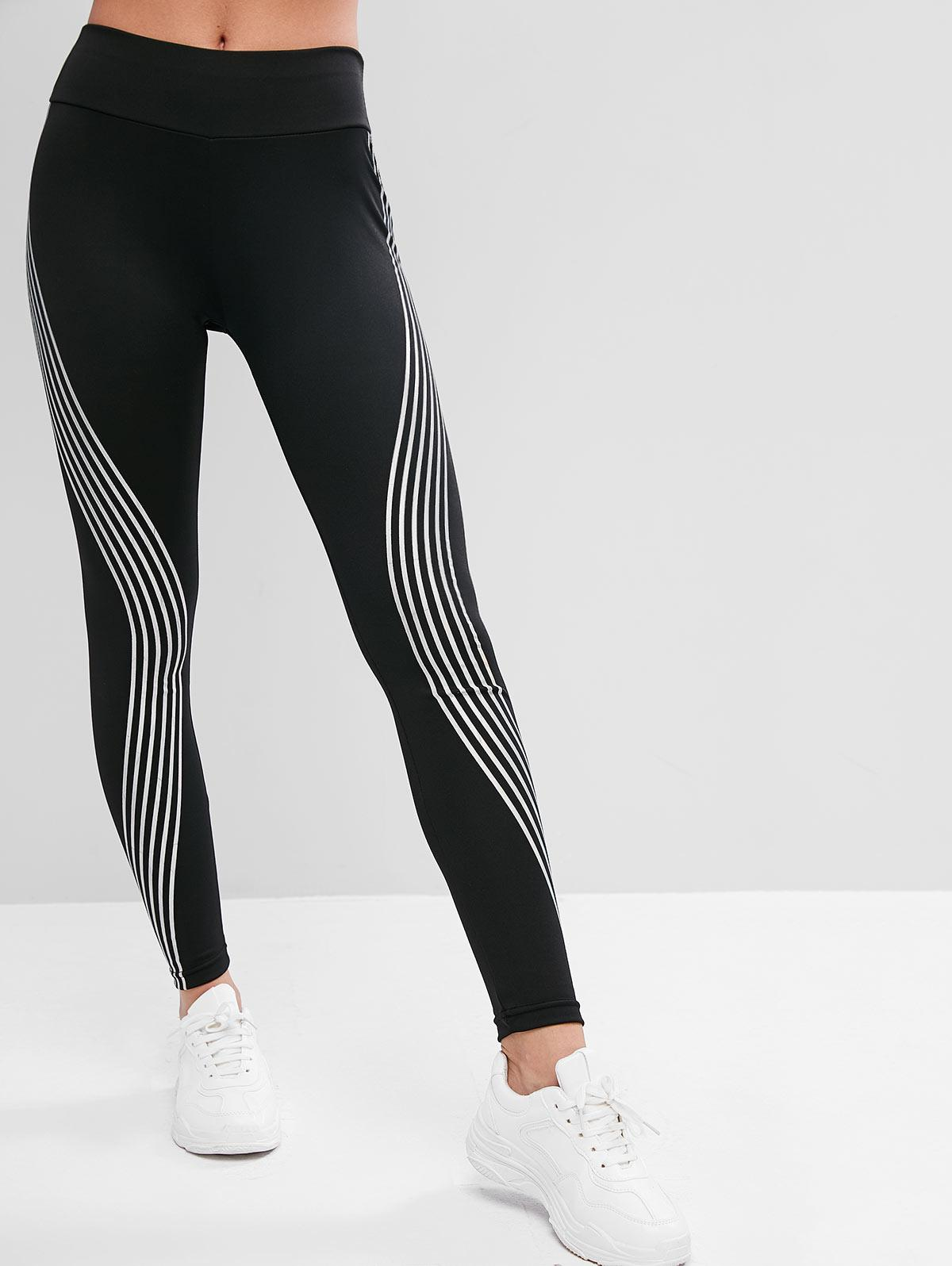 Iridescent Print High Waist Leggings