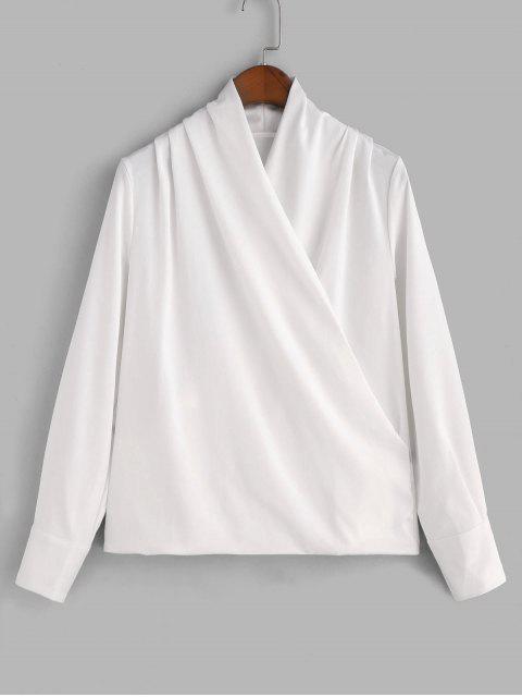 Blusa Chifón Brillante Drapeado - Blanco 2XL Mobile