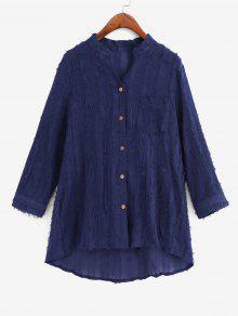 Frayed Detail Pocket Shirt