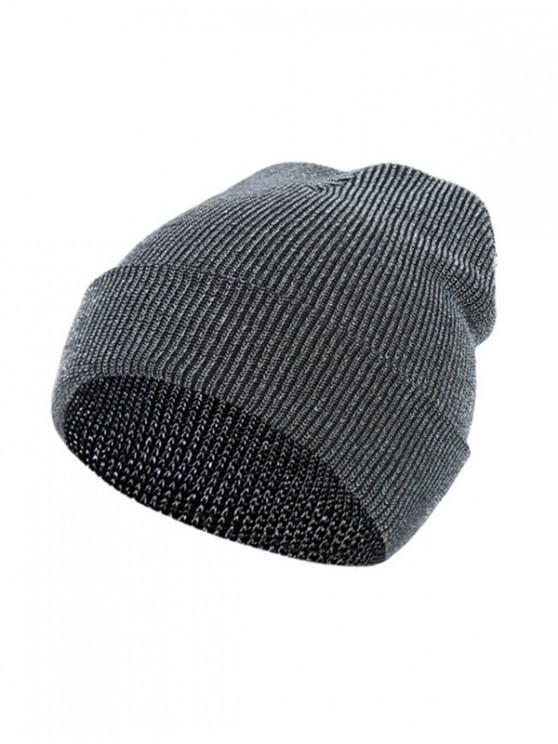 Chapeau d'Hiver Elastique Tricoté - Argent