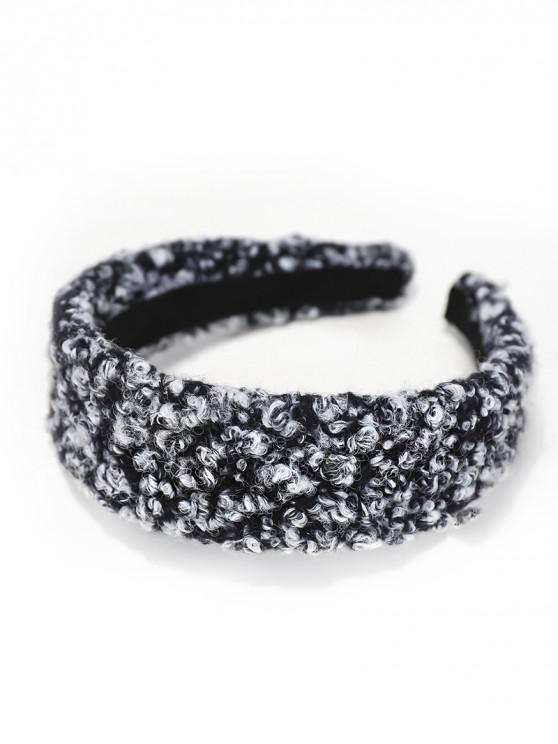 Wool Plush Ins ปีกกว้างคาดศีรษะ - สีดำ
