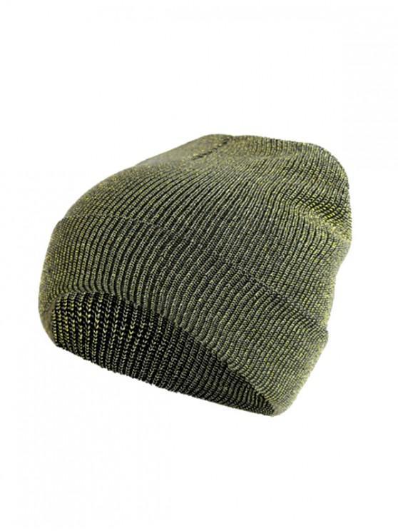 Chapeau d'Hiver Elastique Tricoté - Vert Oignon
