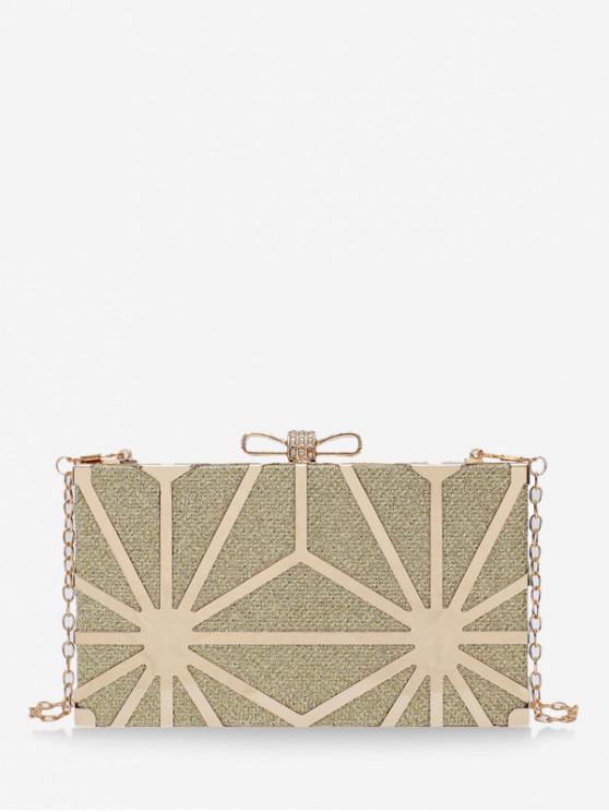 lady Shiny Chain Box Crossbody Bag - MULTI-B