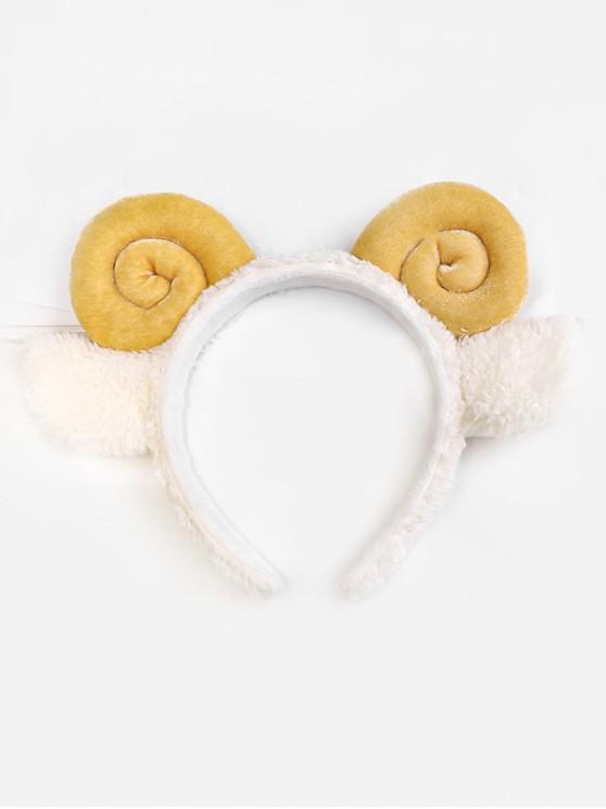fancy Cartoon Cosplay Sheep Horns Hairband - YELLOW