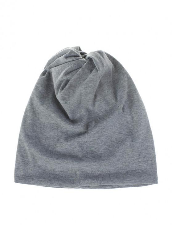 women Casual Elastic Multifunction Scarf Hat - LIGHT GRAY